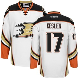 Adult Authentic Anaheim Ducks Ryan Kesler White Away Official Reebok Jersey