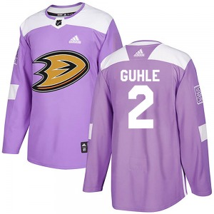 Adult Authentic Anaheim Ducks Brendan Guhle Purple Fights Cancer Practice Official Adidas Jersey